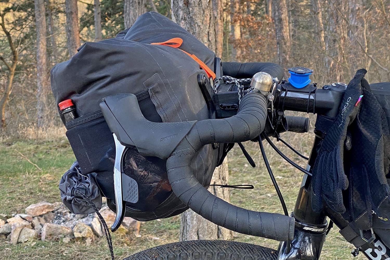 Ortlieb Handlebar Pack QR, made-in-Germany waterproof quick release 11L bikepacking bar bag,side