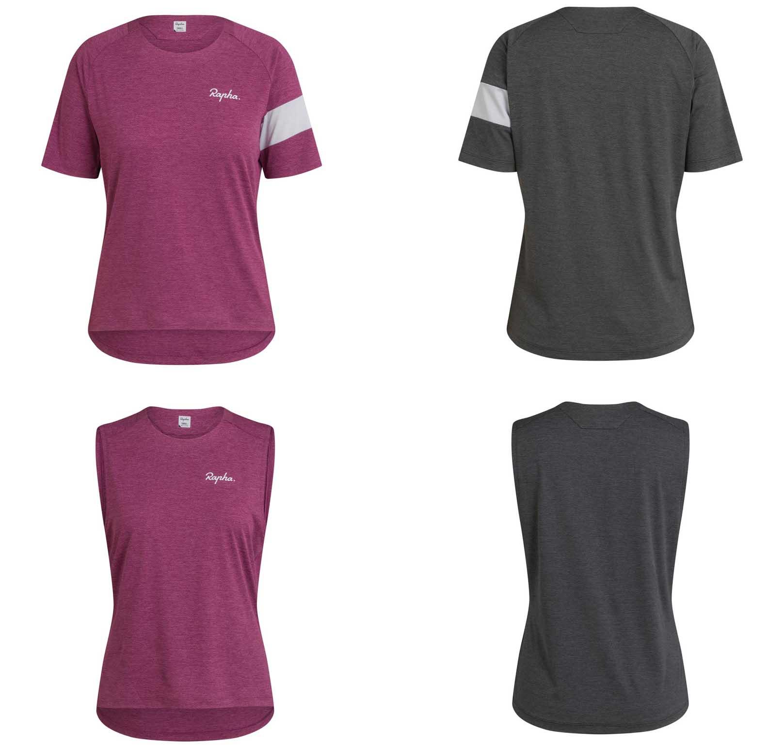 Rapha Performance Trailwear short sleeve and sleeveless womens