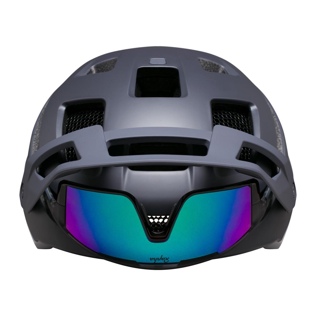 Rapha Performance Trailwear helmet with glasses