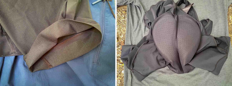 Rapha Performance Trailwear bib liner details