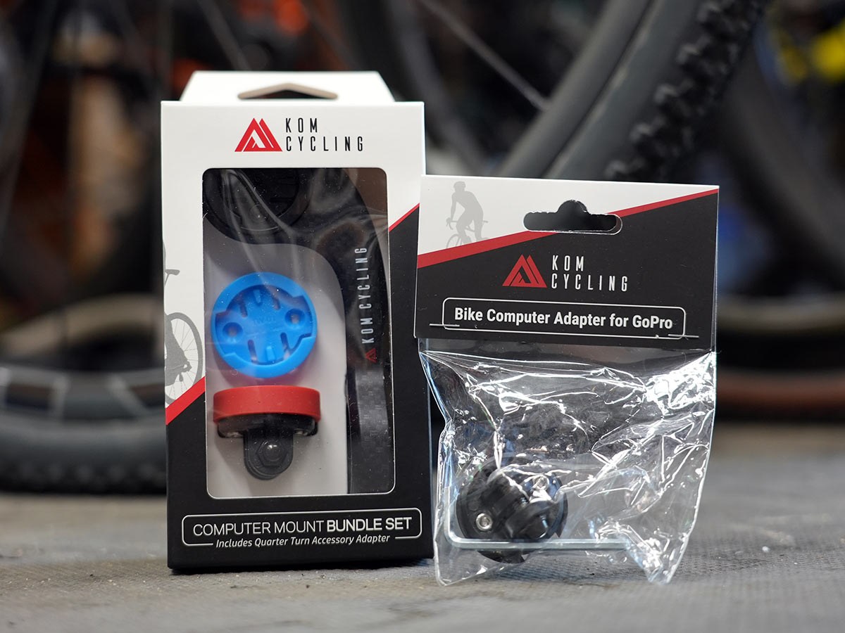Kim cycling quick release gopro computer mount kit shown in packaging