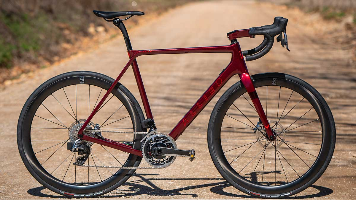 allied cycle works echo all road gravel bike red