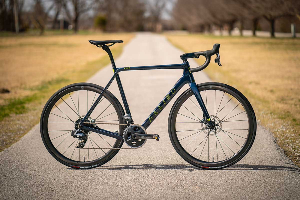 allied cycle works echo all road gravel bike midnight blue