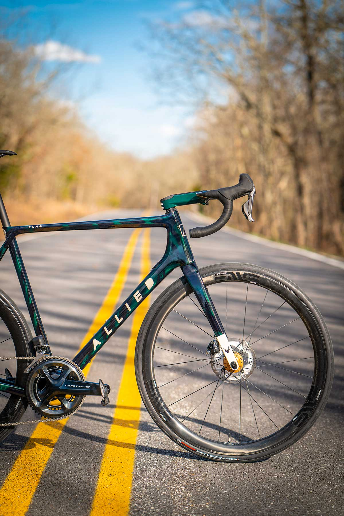 allied cycle works ech all road bike colin strickland custom green
