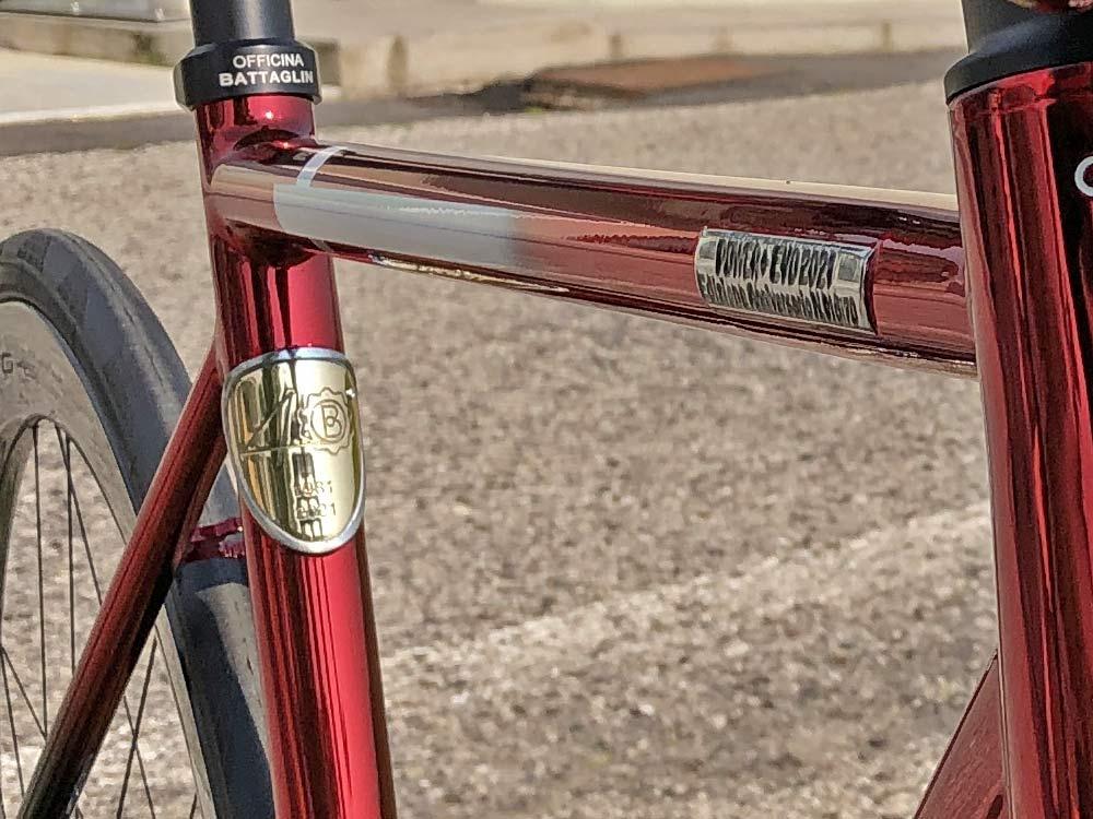 2021 Battaglin Power Plus EVO Edizione Anniversario custom Italian steel integrated road bike, 40th anniversary limited edition,diamond