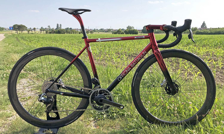 2021 Battaglin Power Plus EVO Edizione Anniversario custom Italian steel integrated road bike, 40th anniversary limited edition,complete