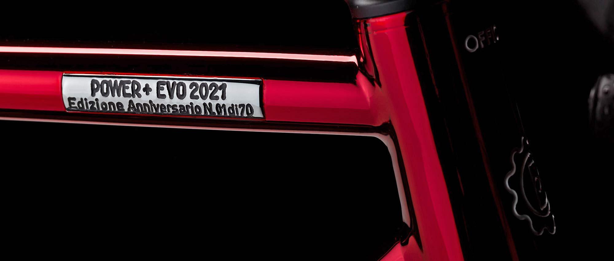 2021 Battaglin Power Plus EVO Edizione Anniversario custom Italian steel integrated road bike, 40th anniversary limited edition badge