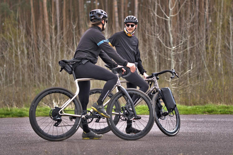 Urwahn Acros EDT gravel bike, limited edition 3D-printed steel no-seattube gravel road adventure bike,options