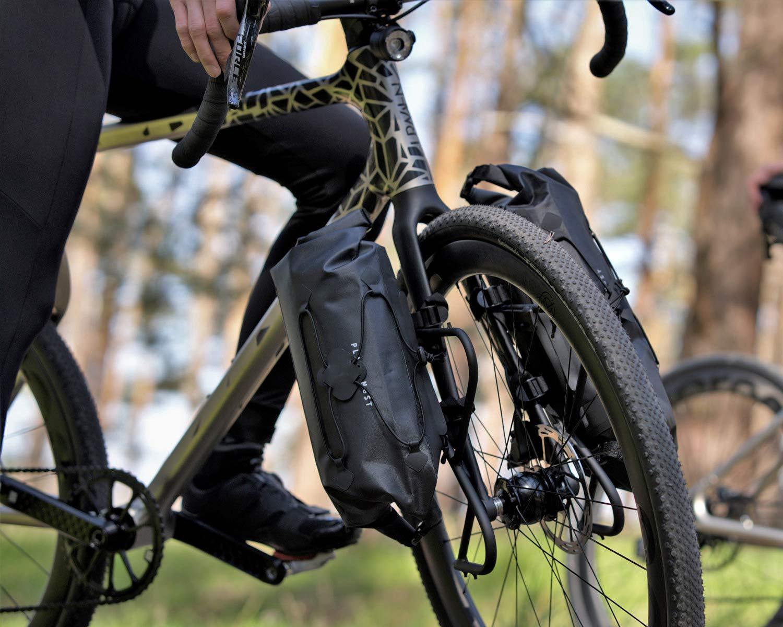 Urwahn Acros EDT gravel bike, limited edition 3D-printed steel no-seattube gravel road adventure bike,bikepacking fork