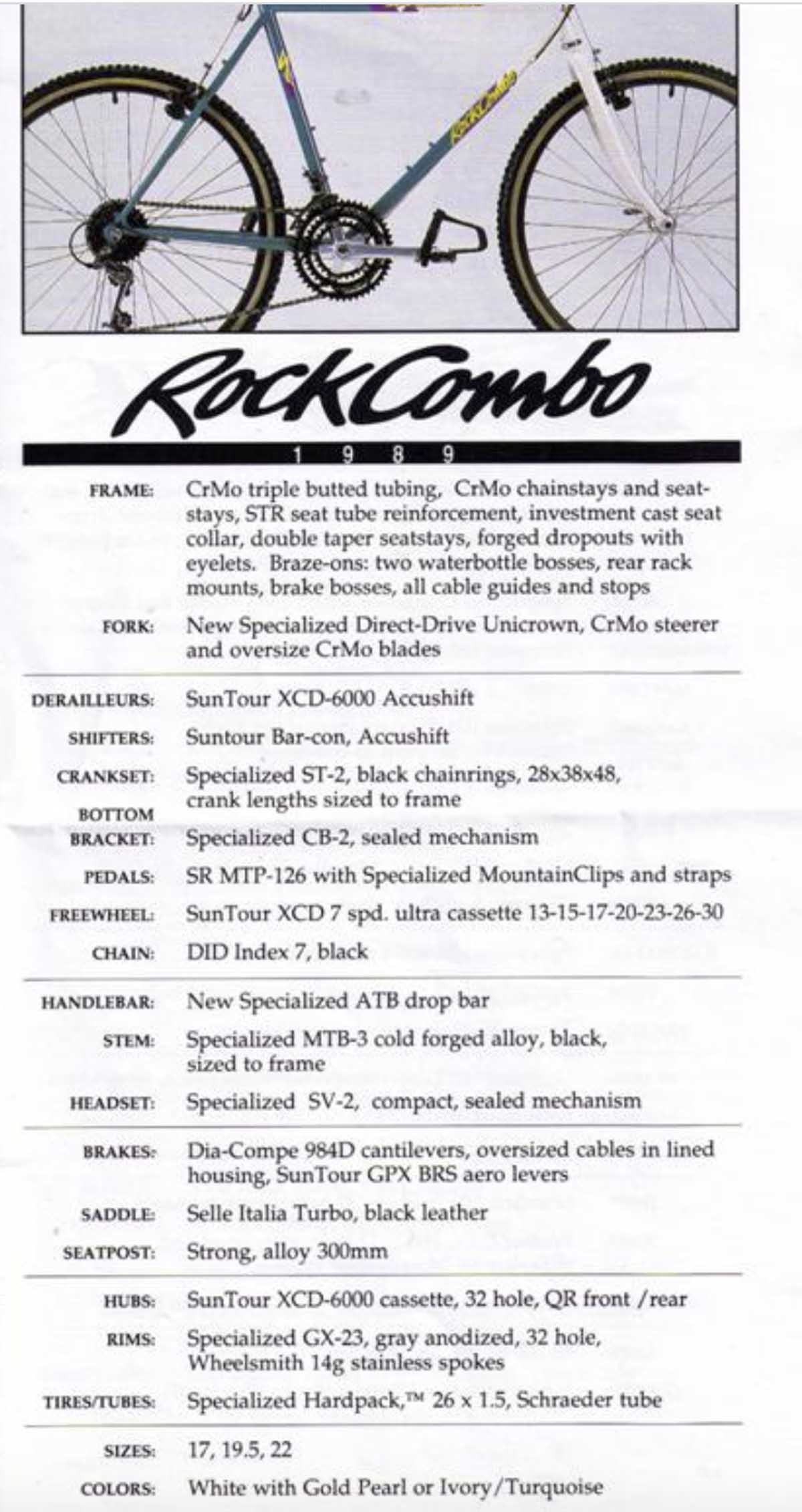 Specialized 1989 RockCombo ad