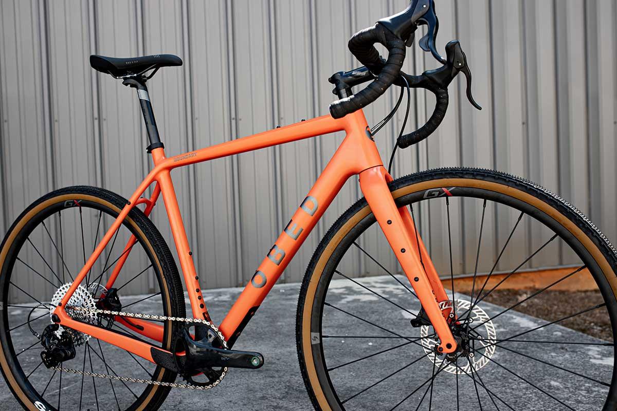 obed boundary carbon gravel bike 1x13 drivetrain campy ekar