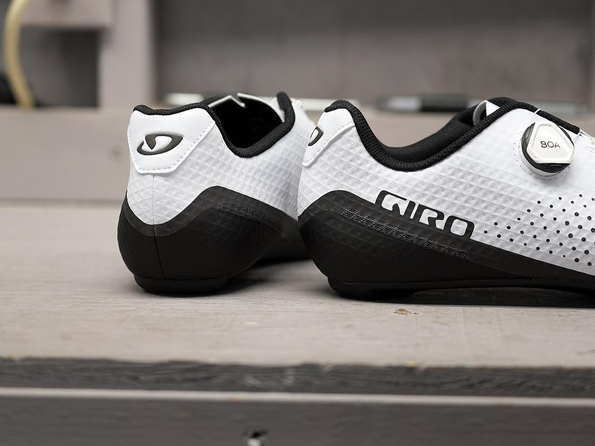 rear photo of giro regime road bike shoes