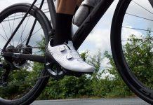 giro regime road cycling shoes on a bike ride