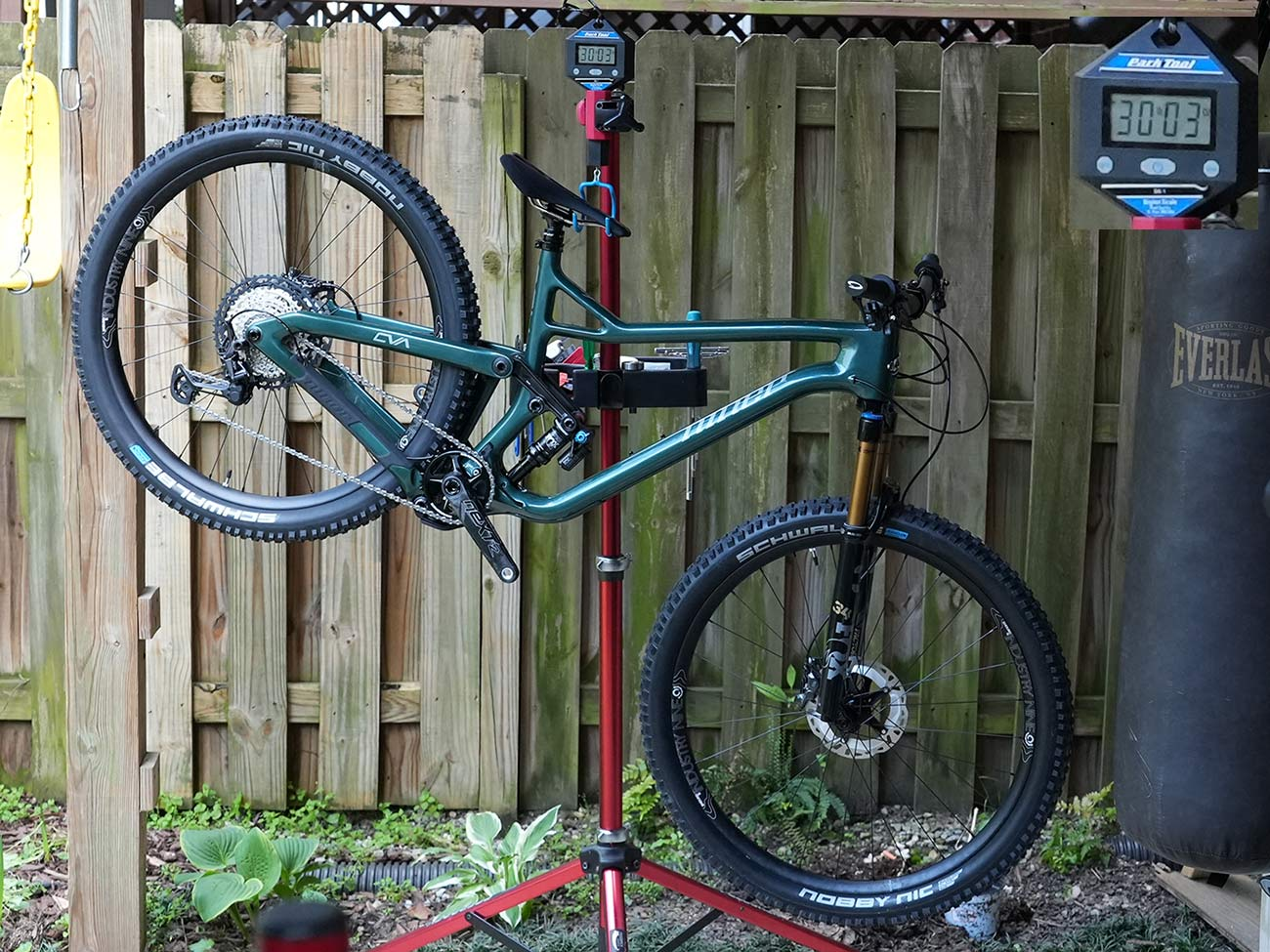 niner jet 9 rdo actual weight with incorrect fork and shock spec