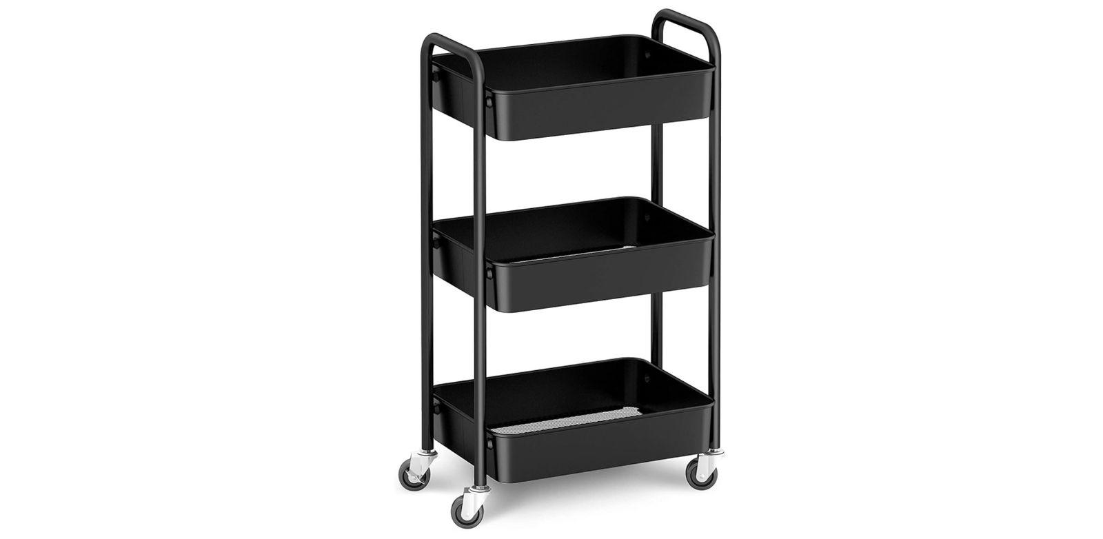 CAXXA 3-Tier Rolling Metal Storage Organizer - best bike storage