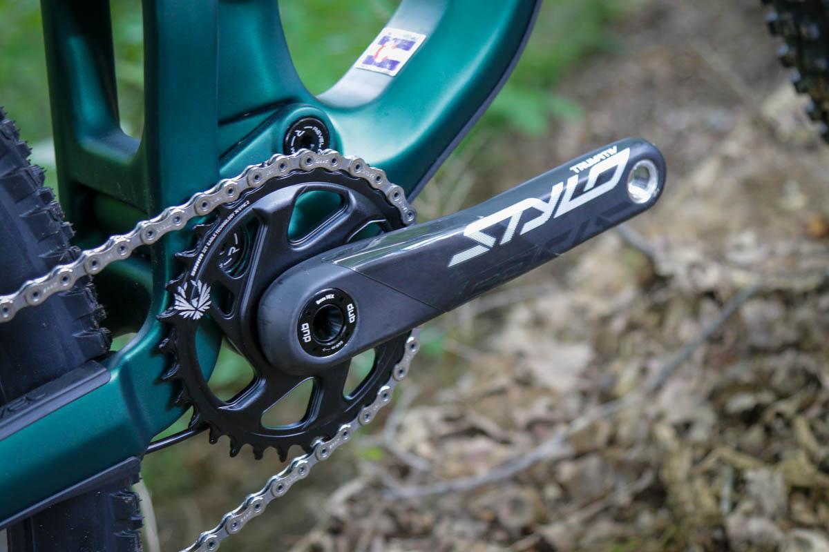 Truvativ Stylo carbon cranks on Revel Ranger