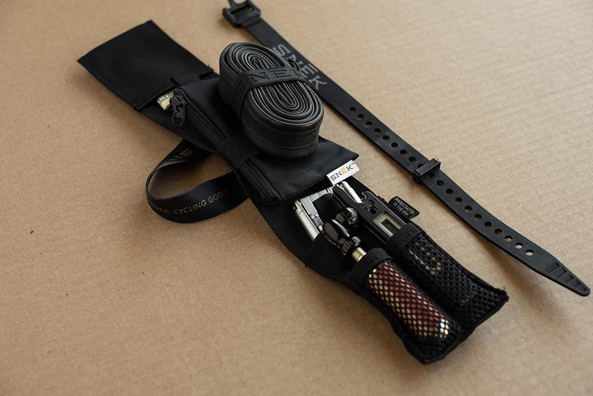 snek vital tool roll frame strap saddle bag