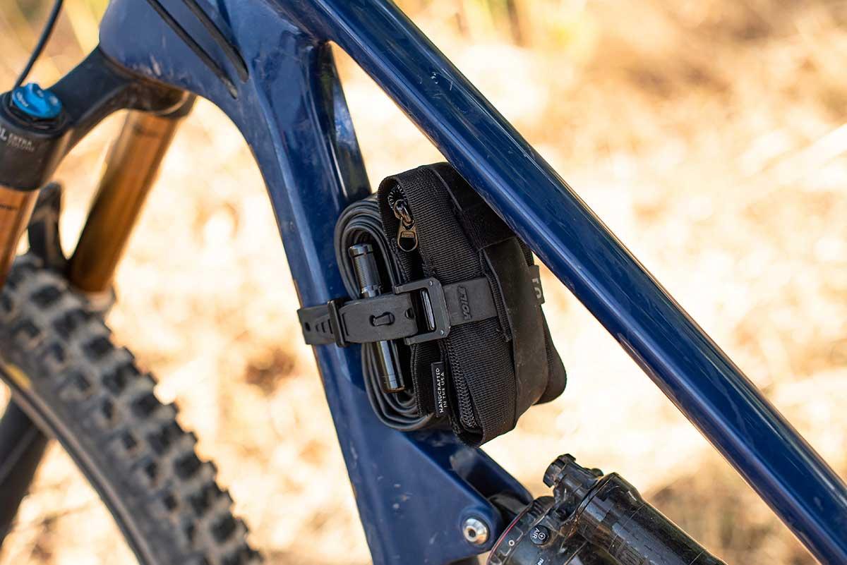 snek cycling vital case tool holder frame strap on revel bike