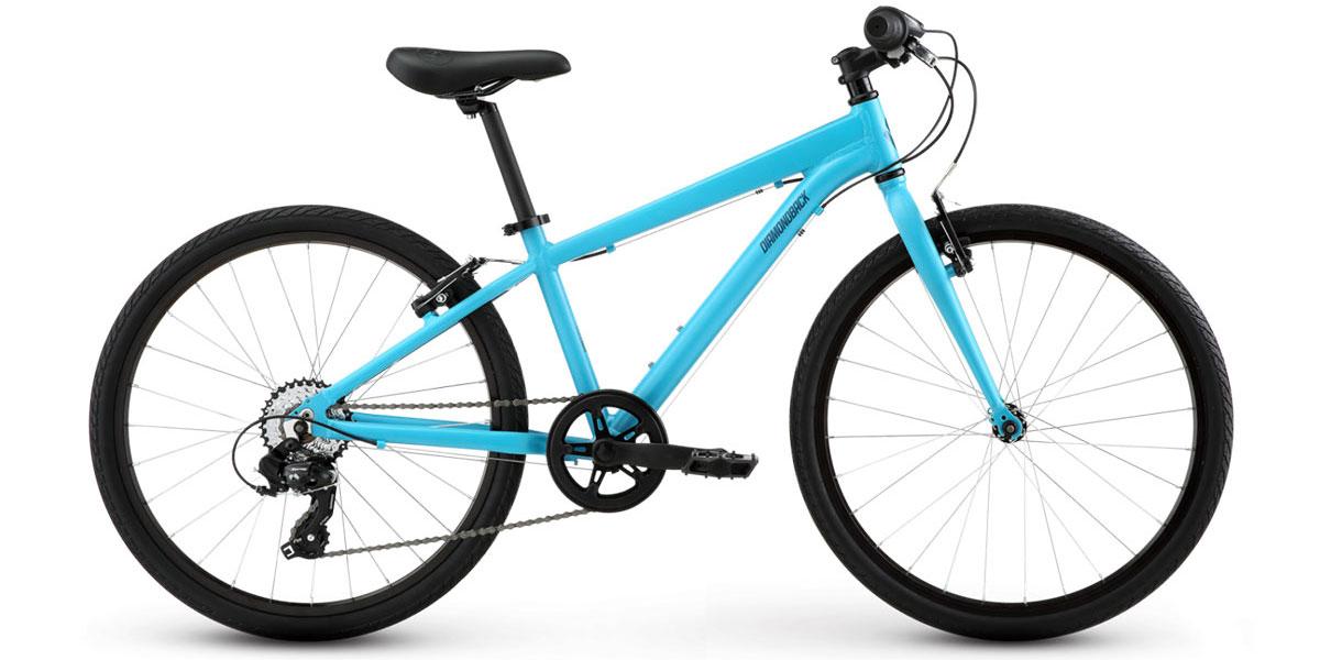 "diamonback metric 24"" kids bike blue frame alloy"