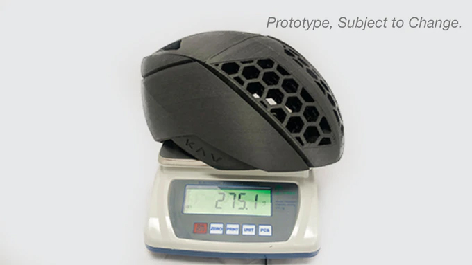 KAV 3d Printed custom helmet weight
