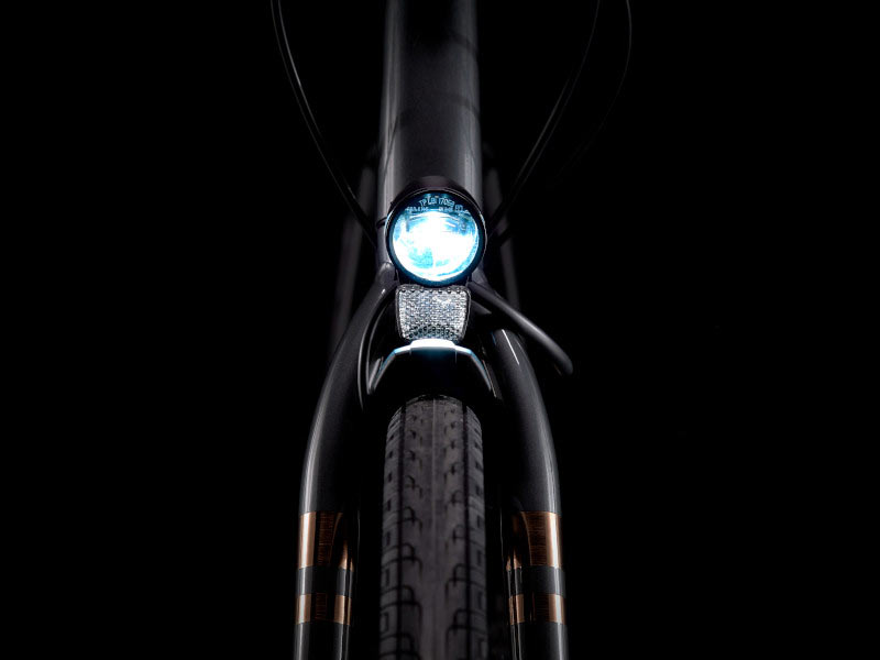 herrmans lights on a new trek commuter bicycle