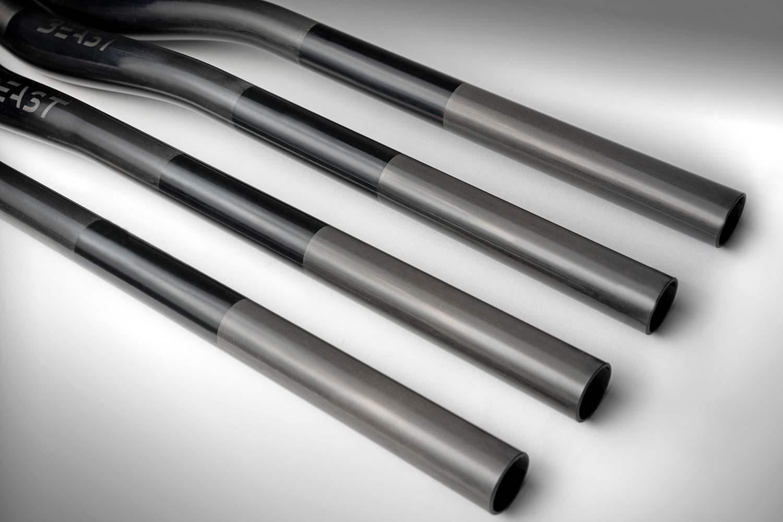 Beast MTB Flatbar 2.0 Riser Bars 2.0, lightweight reinforced carbon mountain bike handlebars,ends
