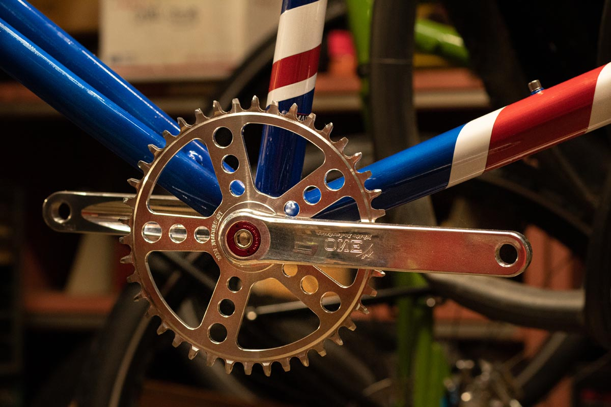 White Industries crankset and chainring