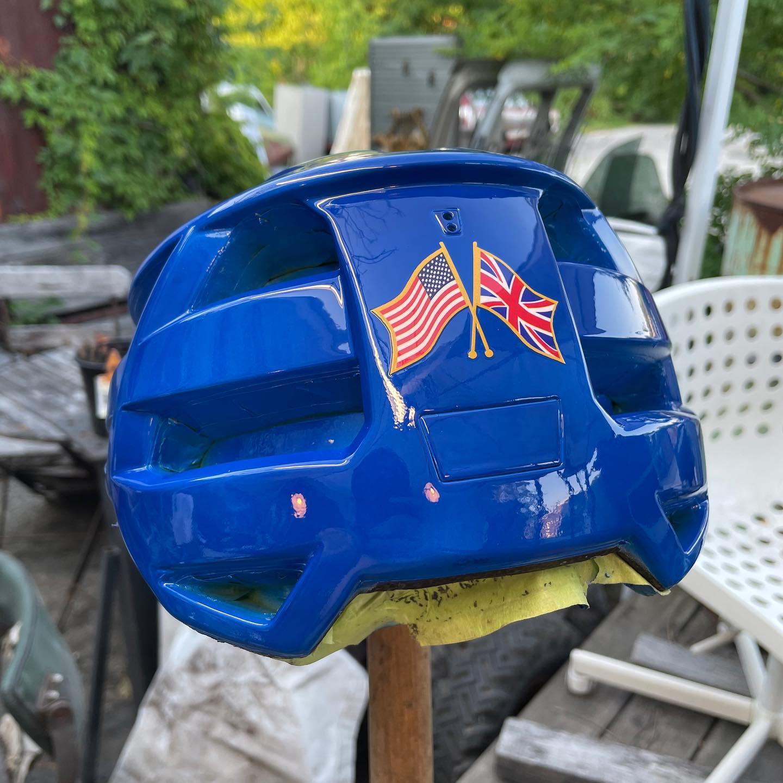 Custom helmet for Boris Johnson
