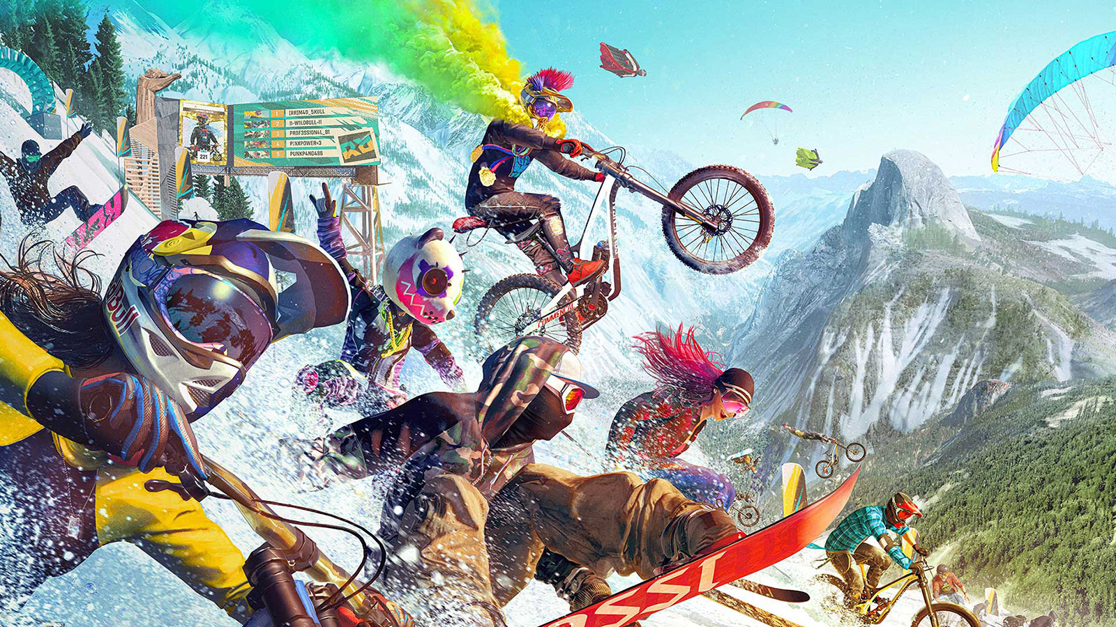screen shot of action from riders republic mountain bike video game for xbox and playstation