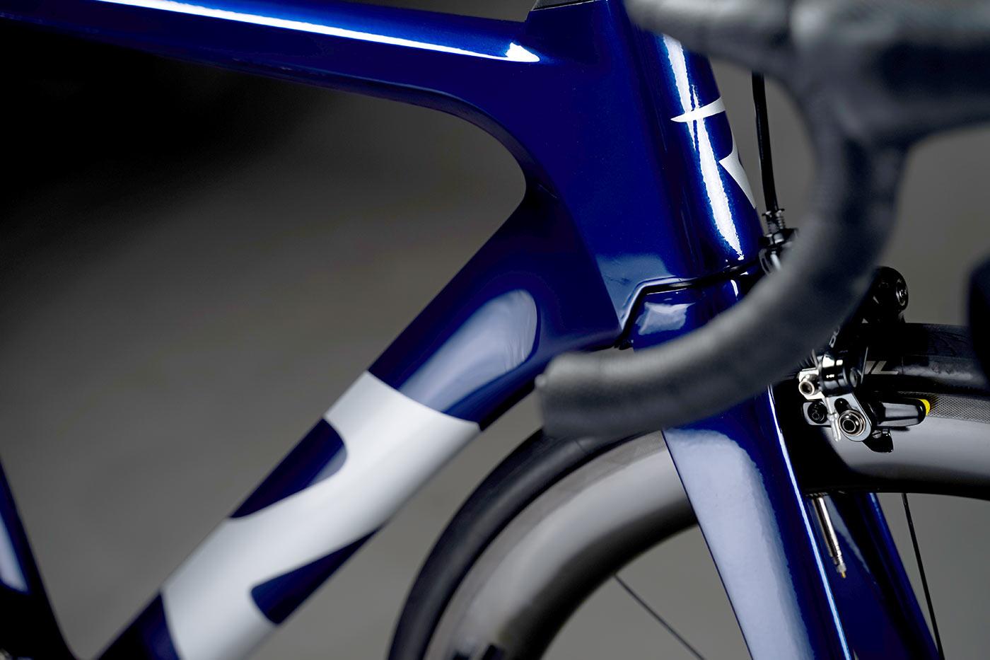 reap vekta aero road bike closeup frame details of head tube