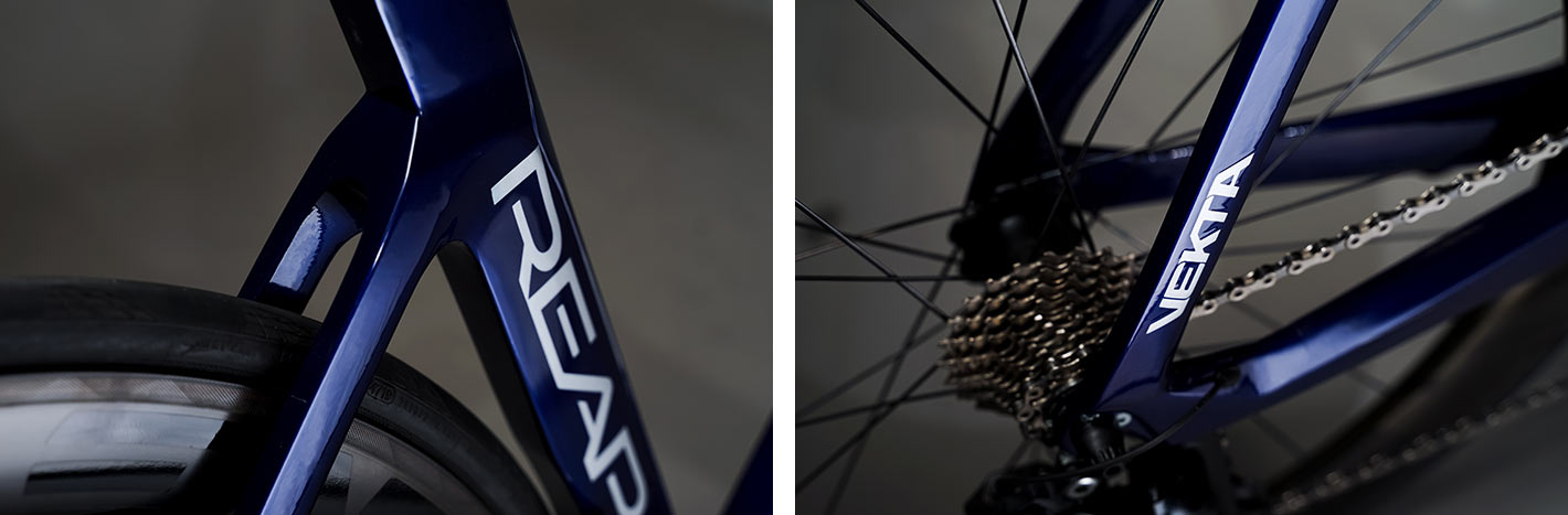 reap vekta aero road bike closeup frame details of seat tube and rear dropouts