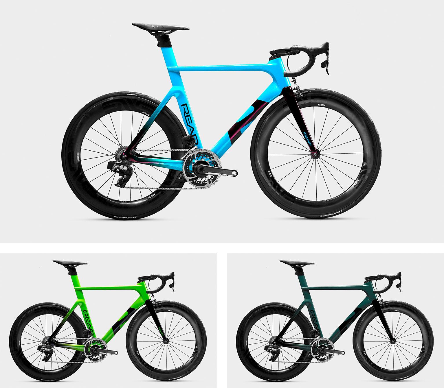 reap vekta aero road bike frame colors and complete bikes