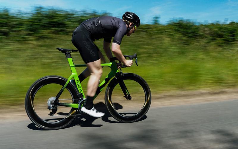 reap vekta aero road bike going fast