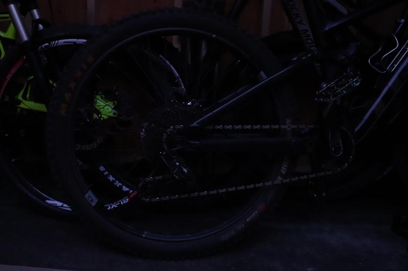 Orange Seal Endurance sealant, bike in storage