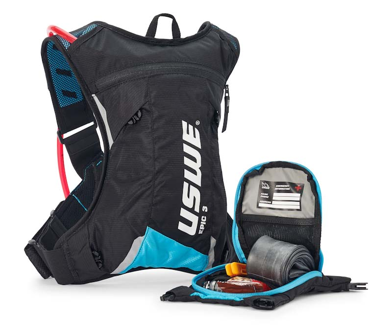USWE Epic Series hydration pack, 3L with pocket removed