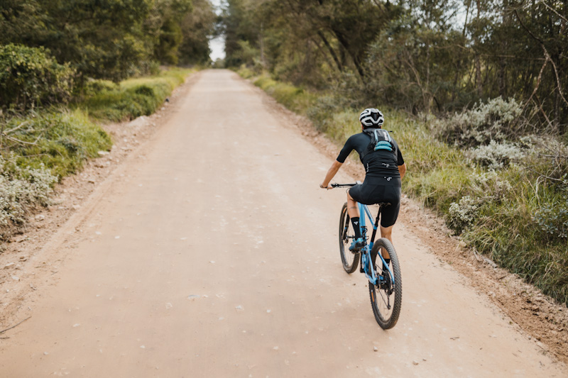 USWE Epic Series hydration pack, on rider