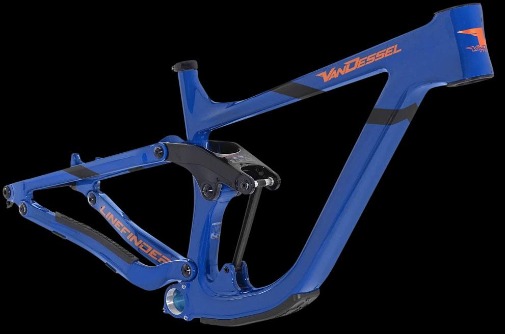 Van Dessel Linefinder full suspension bike frame