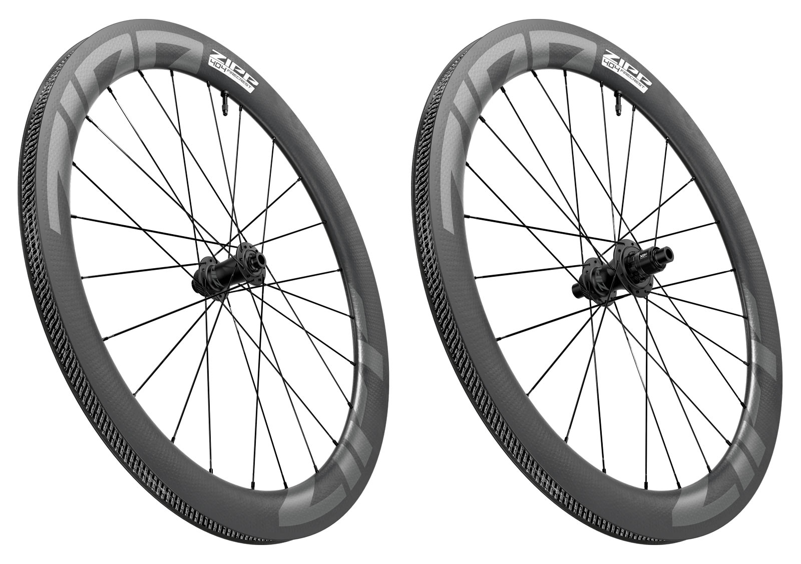 2022 zipp 404 firecrest tubeless ready disc brake road bike wheels angle view