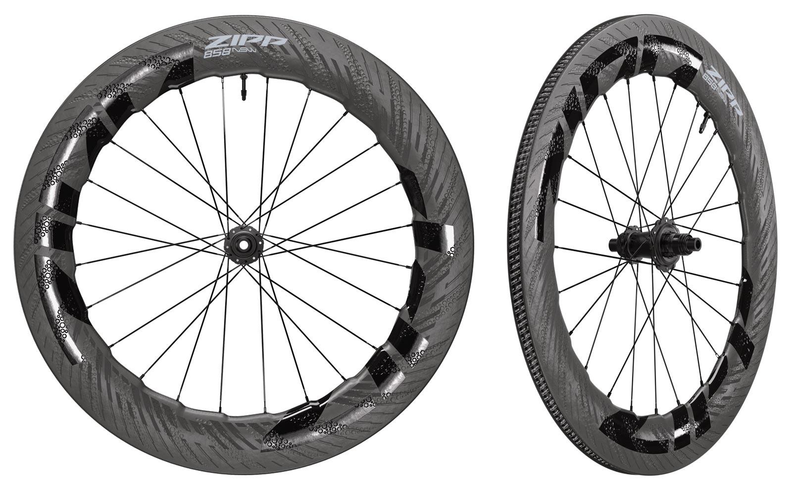 2022 zipp 858 NSW tubeless disc brake road bike wheels