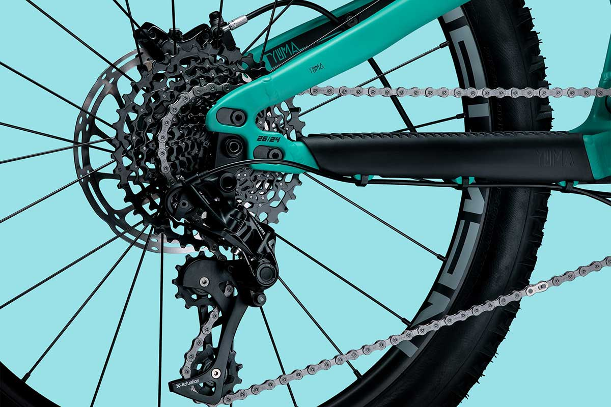 """propain yuma flip chip adjusts chainstay length switch 24"""" wheels to 26"""""""