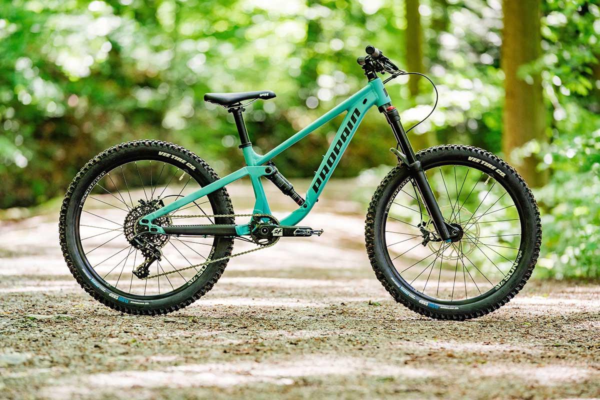 propain yuma kids full suspension mountain bike 140mm