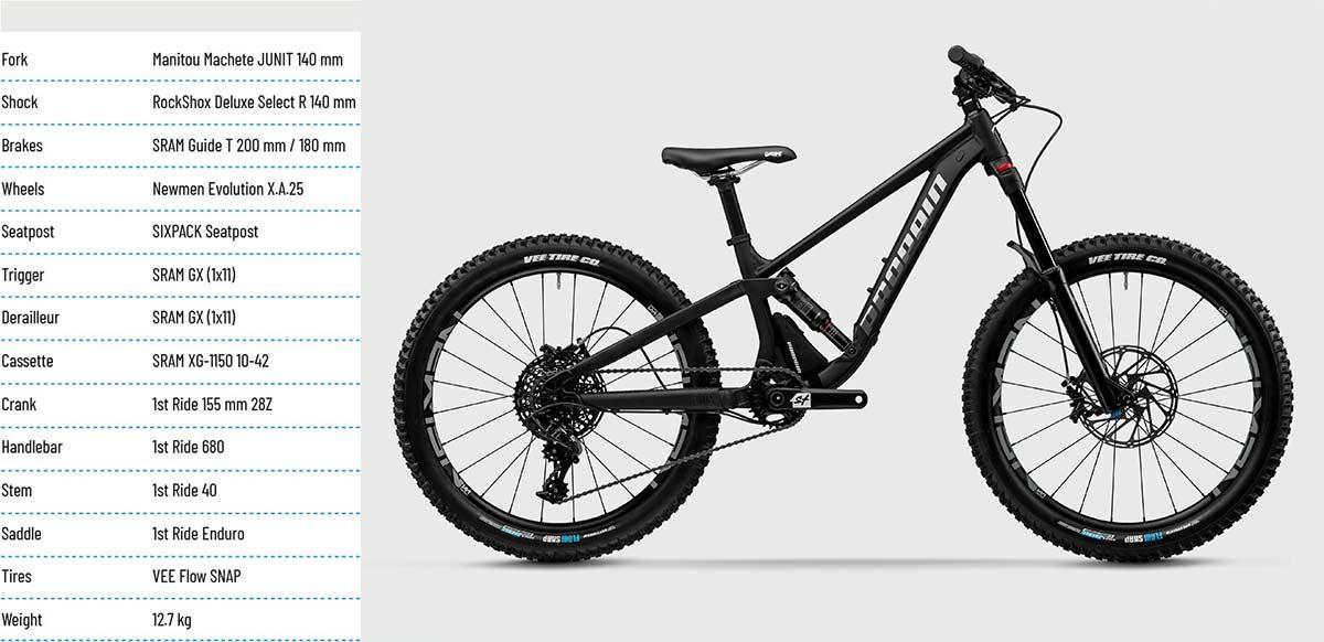 2021 propain yuma kids full suspension mountain bike specification list parts