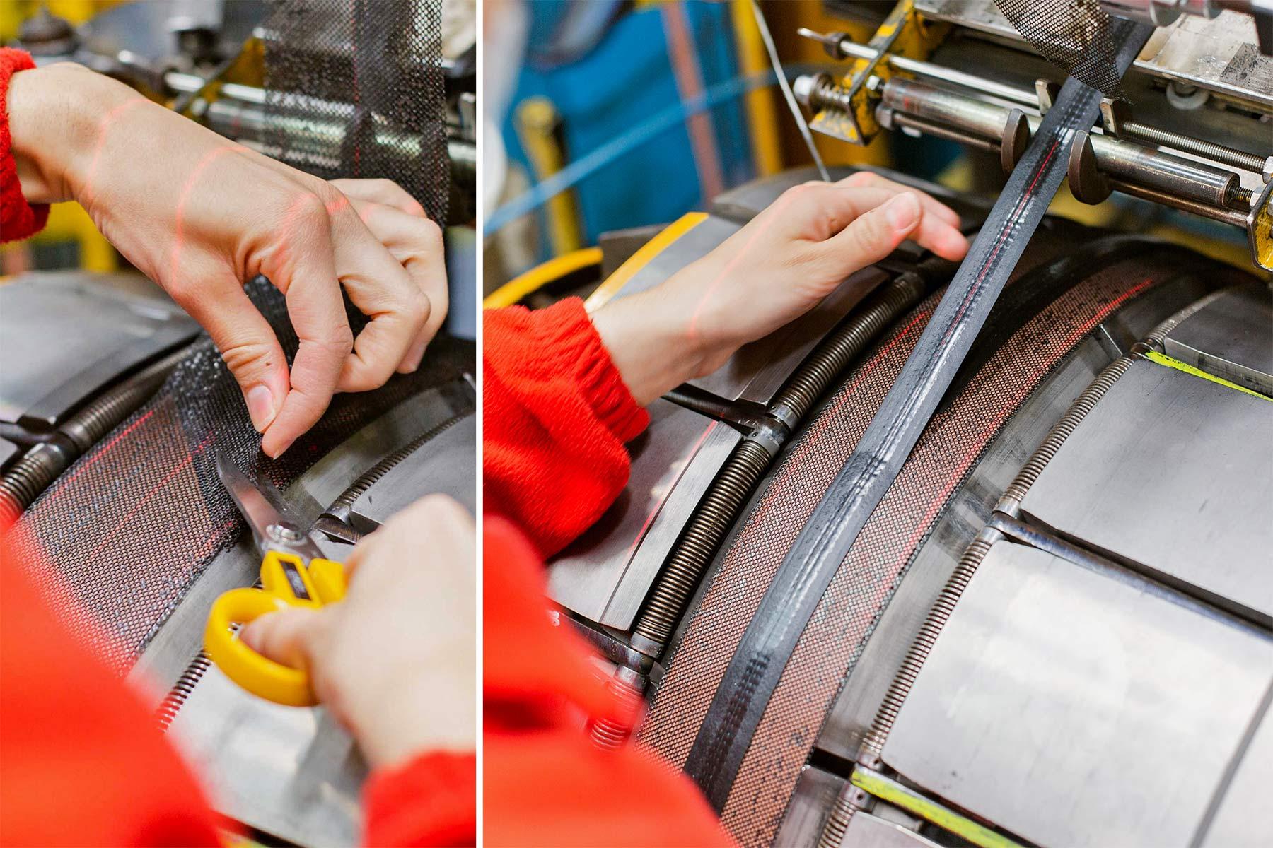 Hutchinson Gridskin lightweight reinforced sustainable gravel road bike tires,construction