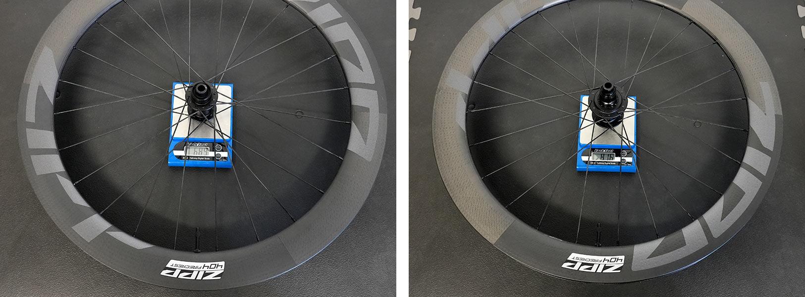actual weights of 2022 zipp 404 firecrest wheels