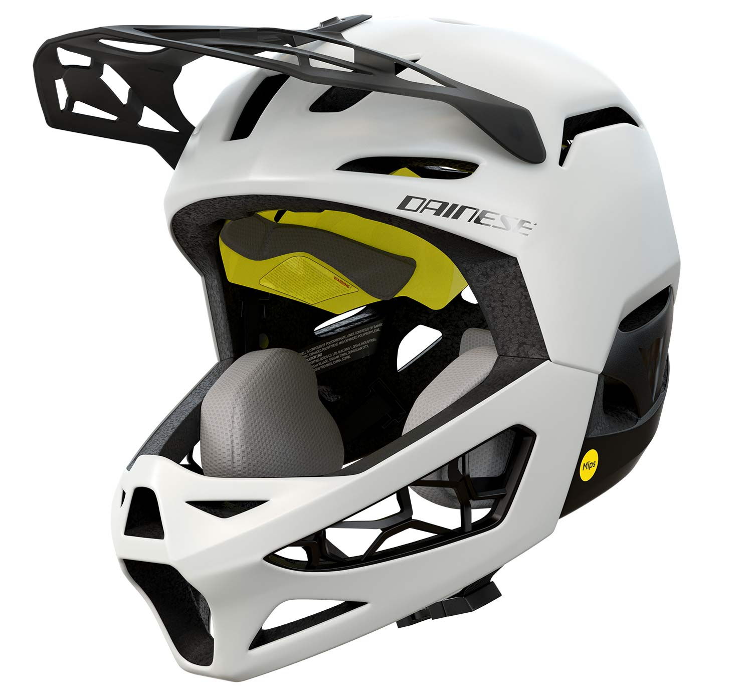 Dainese Linea 01 world's lightest full face helmet, lightweight MIPS DH MTB protection at 570g, angled