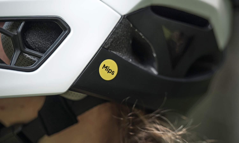 Dainese Linea 01 world's lightest full face helmet, lightweight MIPS DH MTB protection at 570g, Mountain Bike Connection rider Kasia Szlezak, photos by Rupert Fowler, detail
