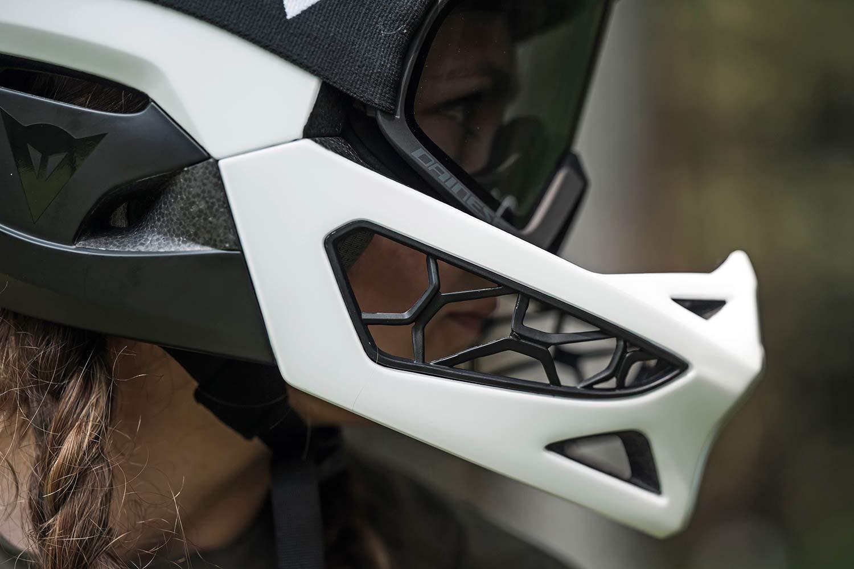 Dainese Linea 01 world's lightest full face helmet, lightweight MIPS DH MTB protection at 570g, Mountain Bike Connection rider Kasia Szlezak, photos by Rupert Fowler, chin bar