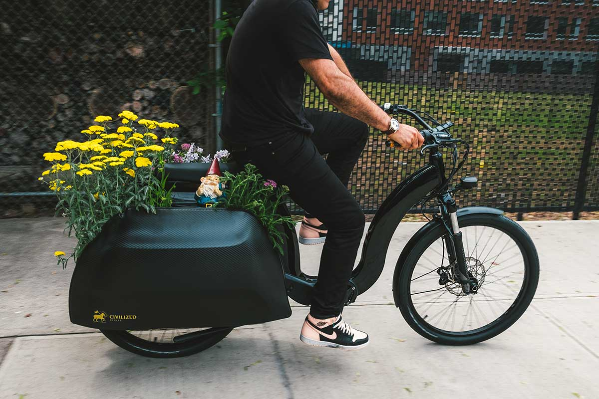 cicilized cycles model 1 ebike cargo carrying shopping