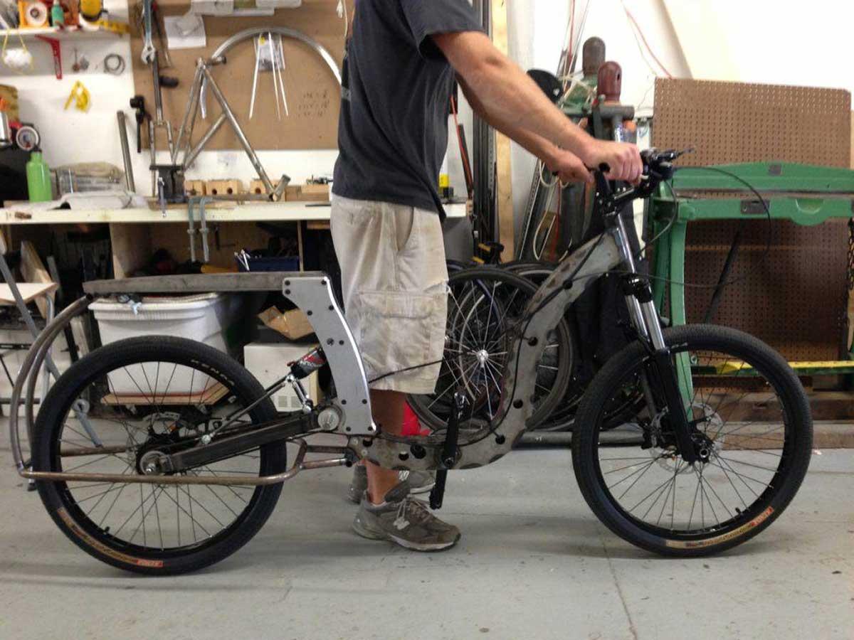 cicilized cycles model 1 ebike prototype suspension