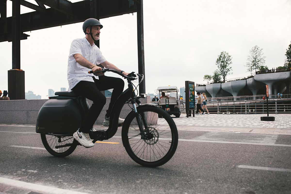 cicilized cycles model 1 ebike riding